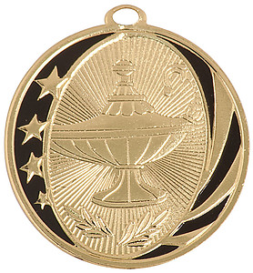 Lamp of Knowledge Medals MS-706 With Neck Ribbons