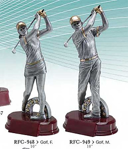 Resin Golf Trophy Sculpture