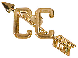 Cross Country Letter Pin