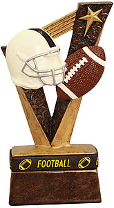 Resin Football Trophybands 6 1/2 inches tall with wearable wrist band (purchasing 1-3 )