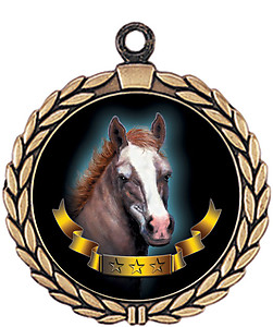 Mustang Mascot Medal HR905-7171 with Neck Ribbon