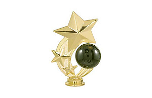 Stars Bowling Ball Trophy Topper