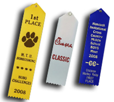 Card and String Livestock Fair Ribbons with Custom Print