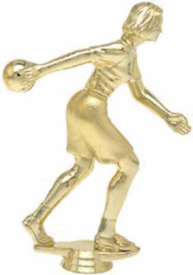 Female Bowling Trophy Figure