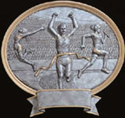 Resin Female Track Plaque Trophy Award