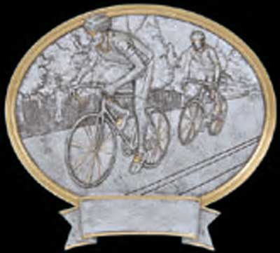 Road Racing Bicycle Plaque Award