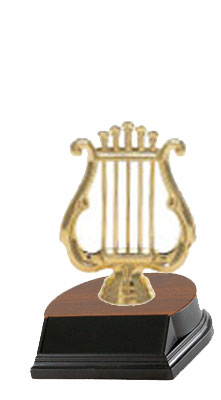 Base and Figure Music Trophies