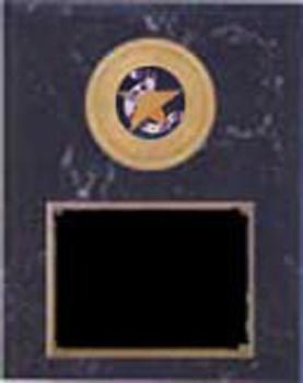 Deluxe Track and Field Plaque Black Marble Finish 1094