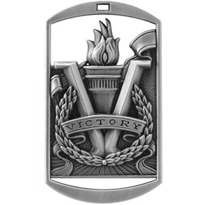 Victory Dog Tag Medals DT-290 with Neck Ribbons