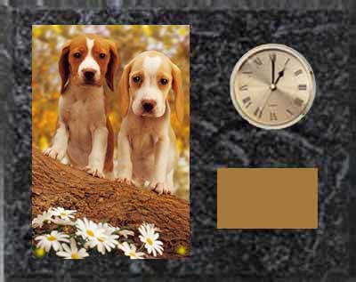 Beagle Field Trial Plaque Clock H Series