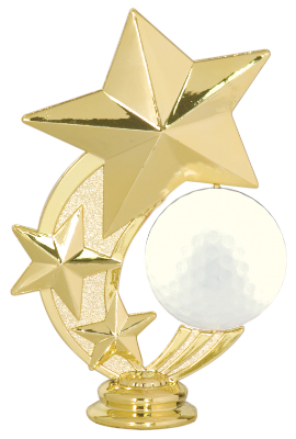 Stars Spinning Golf Ball Trophy Topper