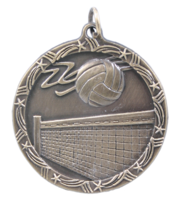 ST22 Volleyball Medals with Six Pricing Options, as low as $.99