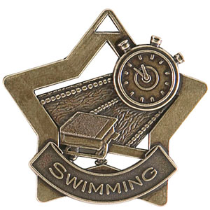 XS213 Swimming Star Medal with Six Pricing Options
