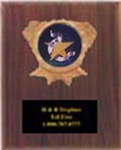 1096 Solid Walnut Track and Field Plaques
