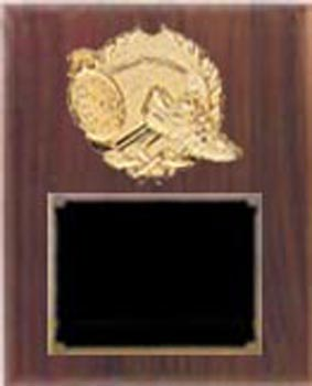 Deluxe Solid Walnut Track and Field Plaque