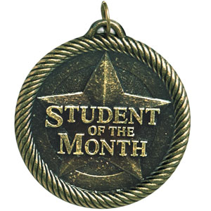 Student of the Month Medal VM-265 with Neck Ribbon
