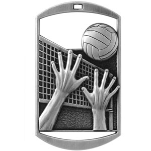 DT224 Dog Tag Volleyball Medal with Six Pricing Options