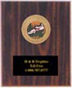 Cherry Finish Track and Field Plaque