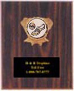 1096 Cherry Finish Track Plaques