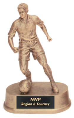 Boys Soccer Resin Trophy Statue (purchasing 1-3)
