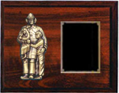 Cherry Finish  Fireman Plaque Award CFF4