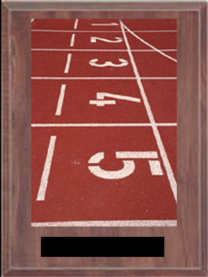 Cherry Finish Image Track and Field Plaque
