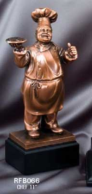 Resin Chef Scuplture Trophy Award