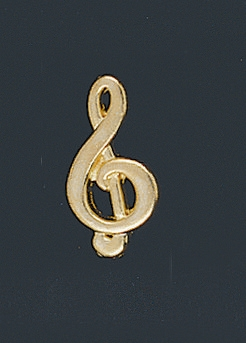Chenille Music Letter Pin 138