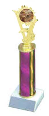 R1 School Trophies with a single round column.
