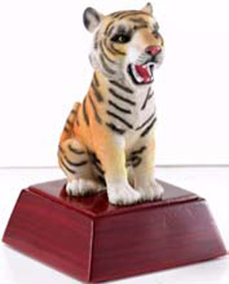 Promote Tiger Spirit with Mascot Trophy or Bobble Head