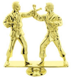 Double Male Martial Arts Trophy Figure RP80965