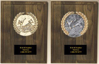 Solid Walnut Martial Arts Plaque